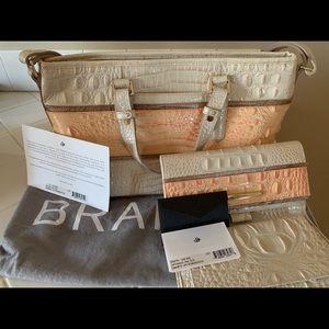 Brahmin purse - rare - mini Asher rose - like new